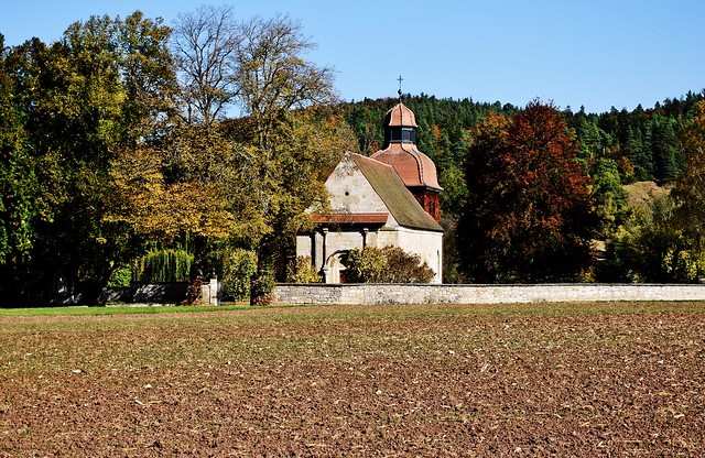 The Weilerkirche (Weiler Church) near Owingen, Baden-Württemberg, Germany