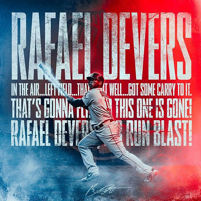 277/365 @rafael.devers with the 3 run blast in the 6th inning might have sealed their trip to the World Series! #redsox #ALCS #mlbplayoffs #BostonRedSox #boston #dodamage #devers