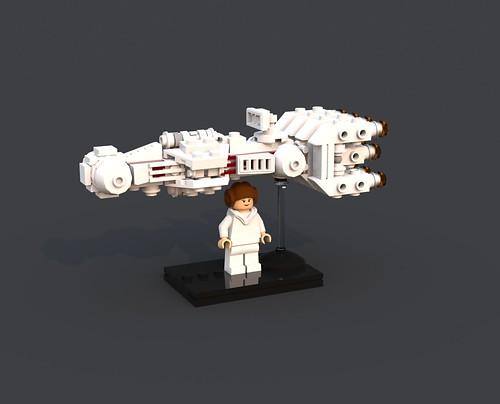 Leia's Tantive IV CR-90 Corellian Corvette Blockade Runner