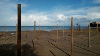 Tsilivi beach at winter