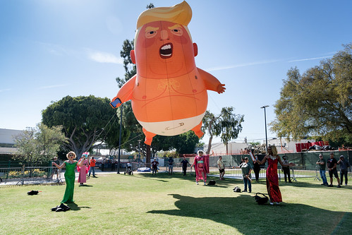 Baby Trump Tour Visits West Hollywood
