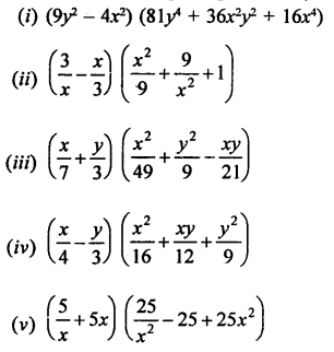 RD Sharma Class 9 Solution Chapter 4 Algebraic Identities