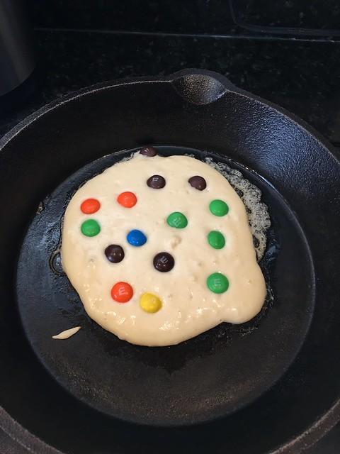 Halloween Candy Pancakes
