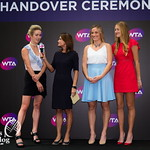 Elina Svitolina of the Ukraine, Timea Babos of Hungary, Kristina Mladenovic