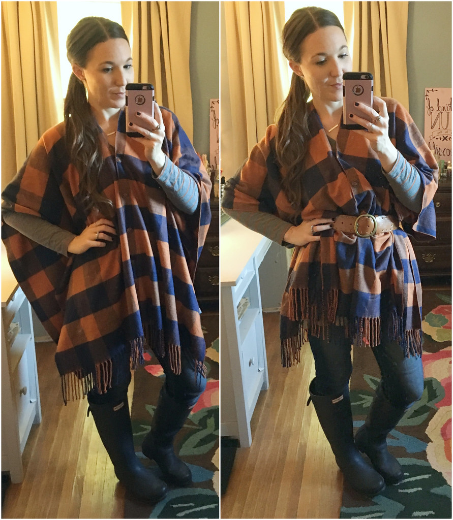 matilda jane orange poncho