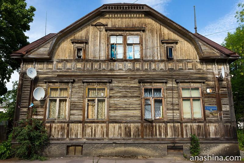 Старый дом на улице Советских Космонавтов, Сортавала, Карелия