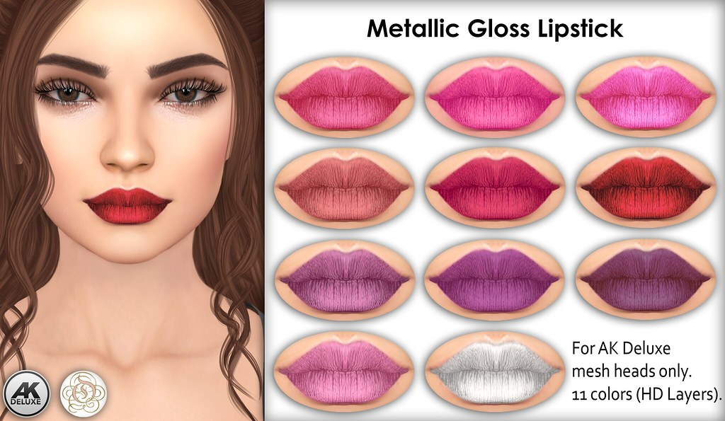 PROMO Metallic Gloss Lipstick Appliers (AK Deluxe) - TeleportHub.com Live!