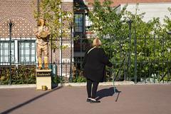 Street artist in Amsterdam.