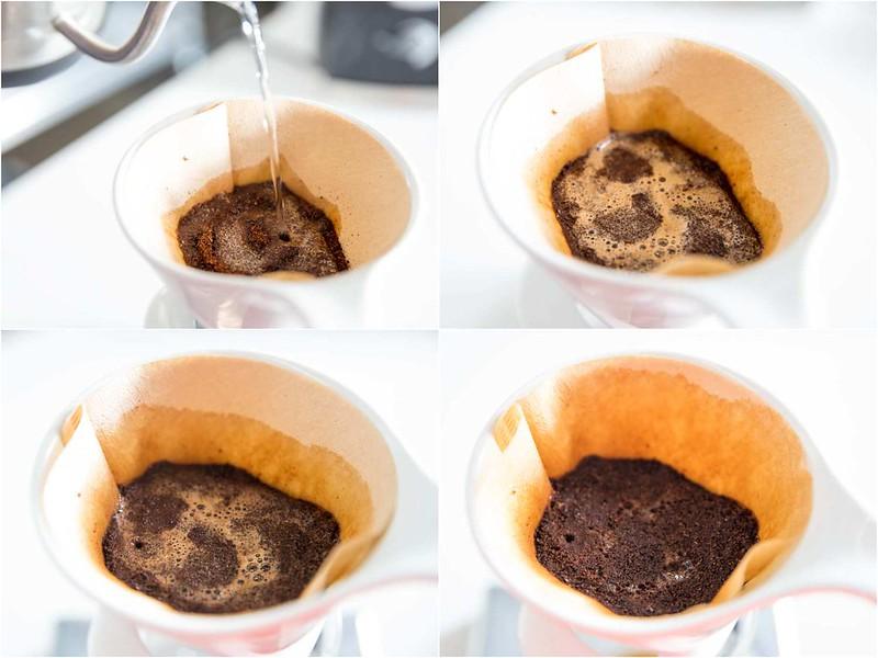Nguyên lý của việc ngâm ủ cà phê (Prewetting)