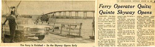 1967-08-26 Skyway Bridge opens | by Deseronto Archives