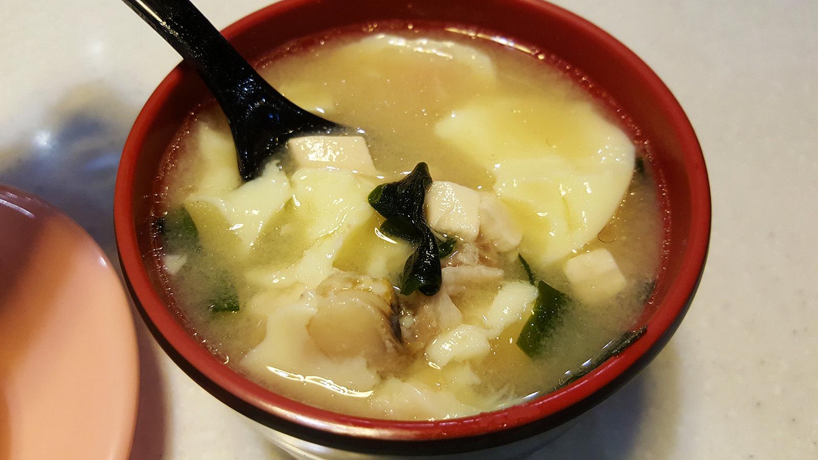 爭鮮 茶碗蒸加上味噌湯