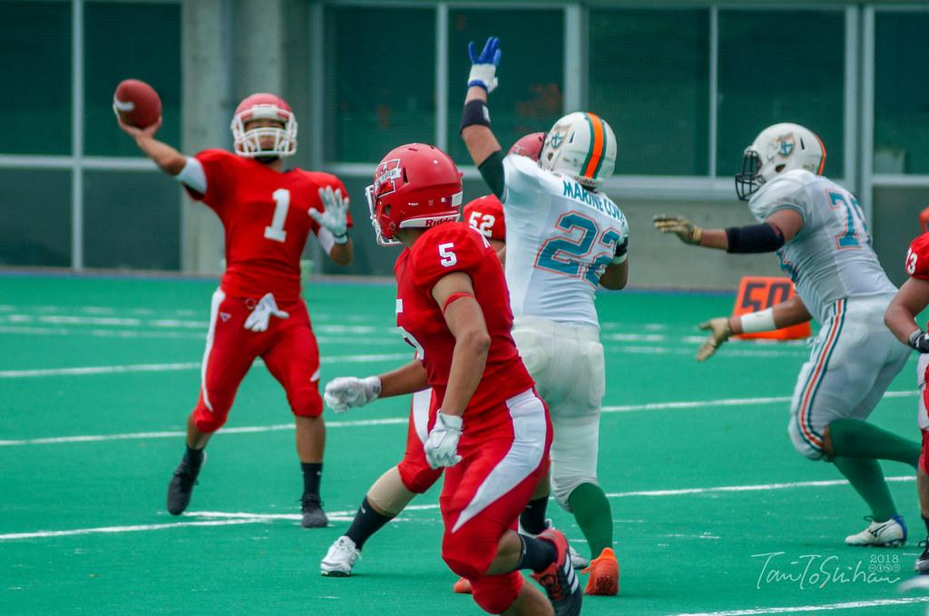 中四国学生アメリカンフットボールリーグ2018 決勝トーナメント 島根大7-33高知大