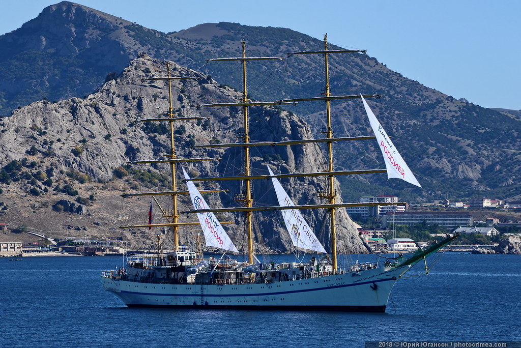 По следам пиратов: Херсонес поднимает паруса! паруса, скалах, Нового, Света, парусник, горах, антураже, морем, таком, красивом, готовился, окружающих, постановке, интересных, самых, можете, увидеть, САЙТЕ, более, Галицина