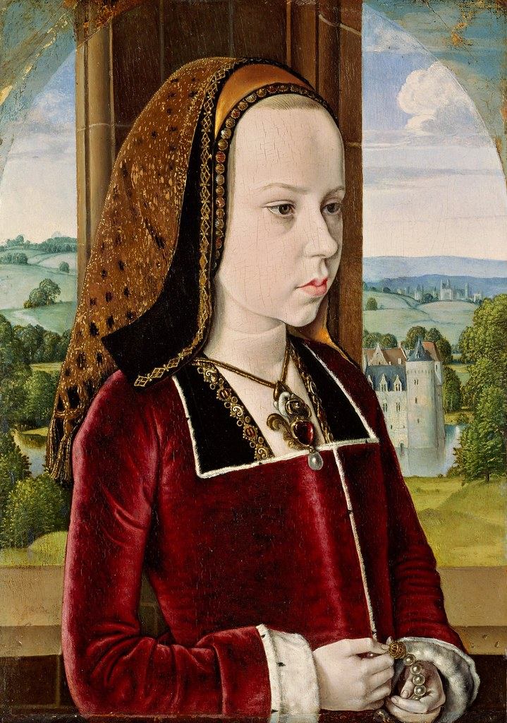 Jean Hey (The Master of Moulins) - Margaret of Austria (c.1490)