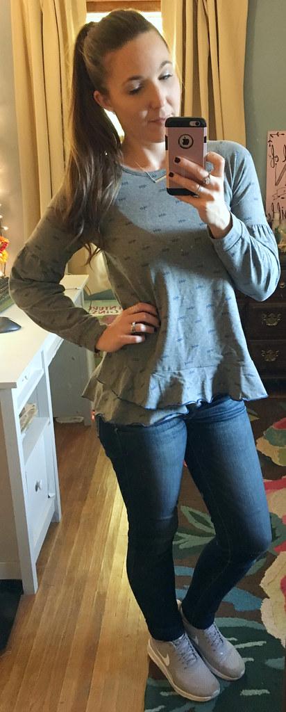 matilda jane frosty days sweatshirt grey tween sweatshirt