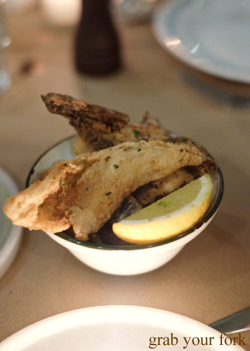 Fritto misto at Bistecca Sydney