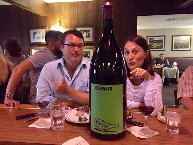 Sideways Wine Bottle, Hitching Post, Buellton, CA
