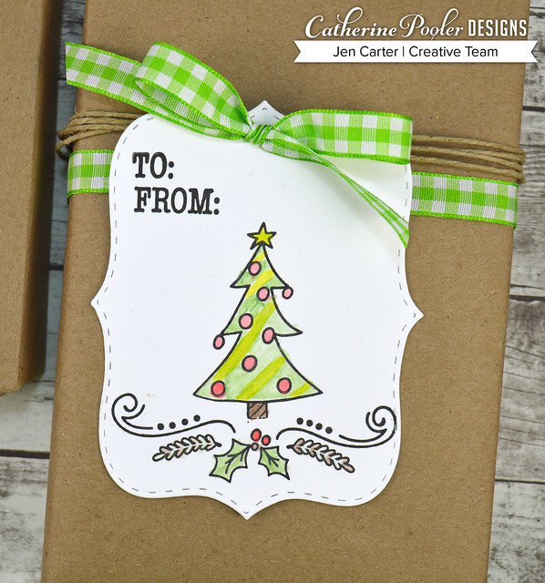 Jen Carter Make Own Tags Kits Christmas Tree by Sadie