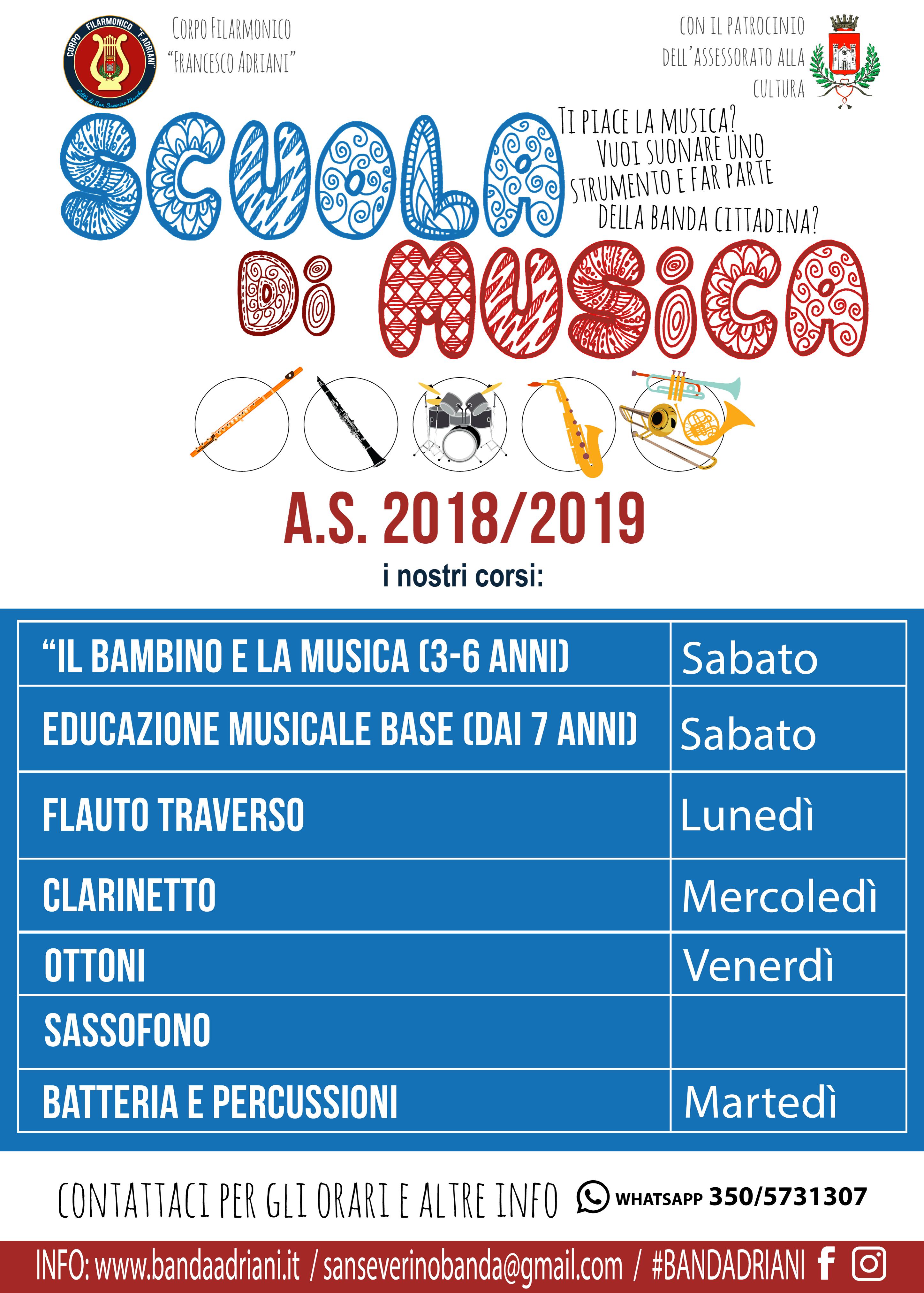 CALENDARIO CORSI A.S. 2018/2019