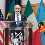 Ju, 09/20/2018 - 14:17 - On Thursday, September 20, 2018, the William J. Perry Center for Hemispheric Defense Studies honored General Salvador Cienfuegos Zepeda, Secretary of National Defense of Mexico, and Escola Superior de Guerra (ESG), National War College of Brazil, with the 2018 William J. Perry Award for Excellence in Security and Defense Education. Named after the Center's founder, former U.S. Secretary of Defense Dr. William J. Perry, the Perry Award is presented annually to individuals who and institutions that have made significant contributions in the fields of security and defense education. From the many nominations received, awardees are selected for achievements in promoting education, research, and knowledge-sharing in defense and security issues in the Western Hemisphere. Awardees' contributions to their respective fields further democratic security and defense in the Americas and, in so doing, embody the highest ideals of the Center and the values embodied by the Perry Award.