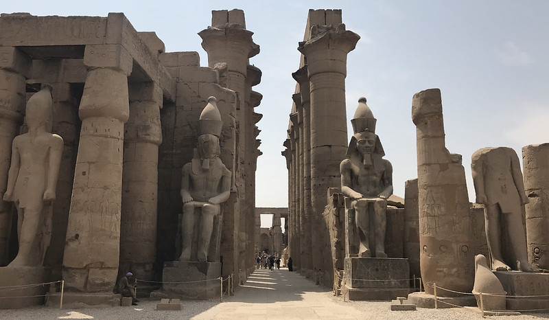 Statues of Ramsesses II, the Luxor Temple, East Bank, Valley of Nile, Egypt.
