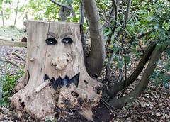 Vicarage scarecrow 3 tree trunk