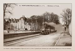 1910 Champlitte (12) le Tacot a Fontaine