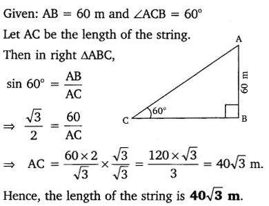 NCERT Solutions for Class 10 Maths Chapter 9 Some Applications of Trigonometry 6