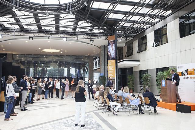 COAG 26 Speakers' Corner and Atrium installation
