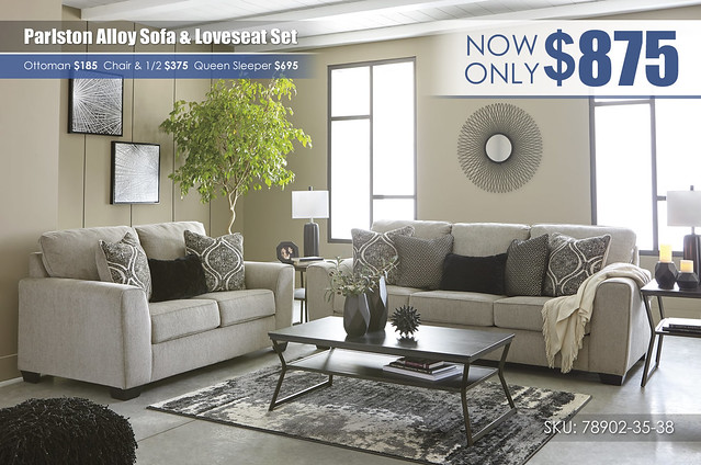 Parlston Alloy Sofa & Loveseat Set_78902-38-35-T436