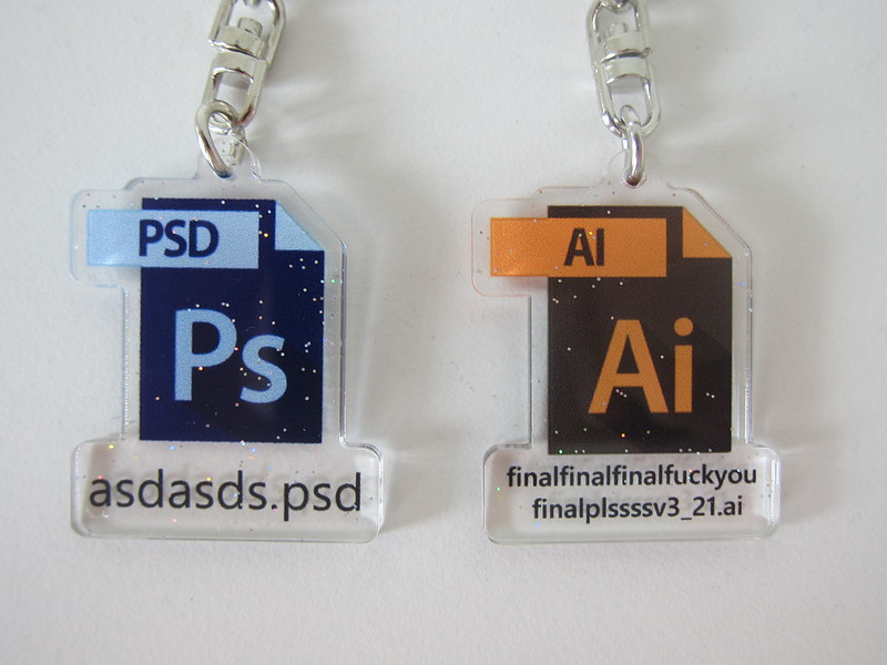 Photoshop (Ps) and Illustrator (Ai) Keychain