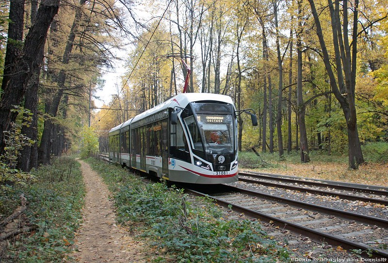 Трамвай 71-931М «Витязь-М» №31081, Измайловский проспект.