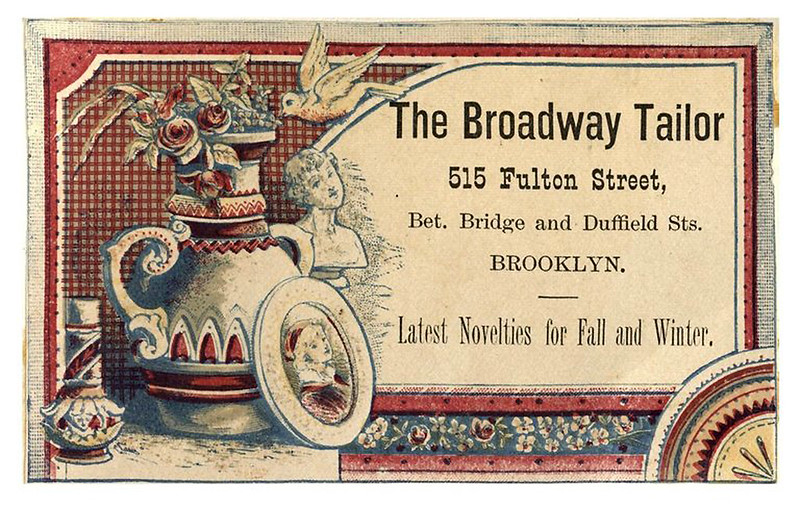 010-Scrapbook of trade cards 1877-1894- Brooklin Museum