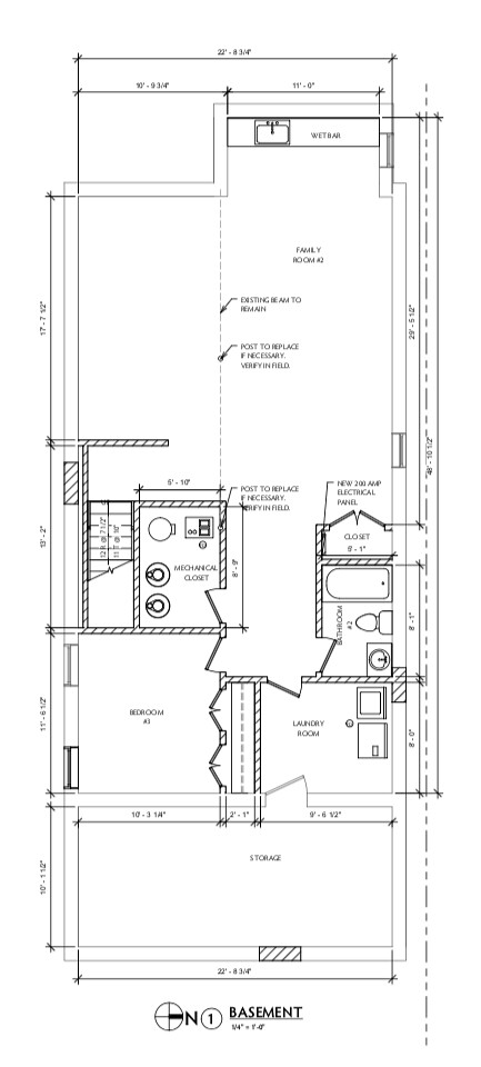 1050 N Taylor Ave Arch Drawings - Basement