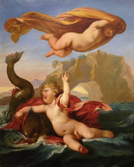 Two Putti With a Dolphin