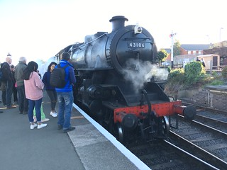 Ivatt 43106 (The Flying Pig) at Kidderminster