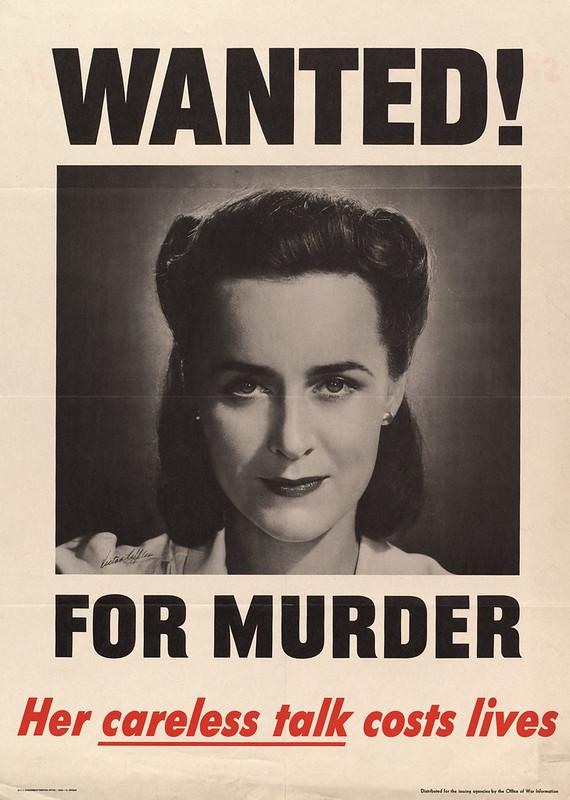 Wanted! - for murder - her careless talk costs lives (1944) - Victor Keppler (1904-1987)