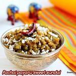Pachai payaru sundal recipe