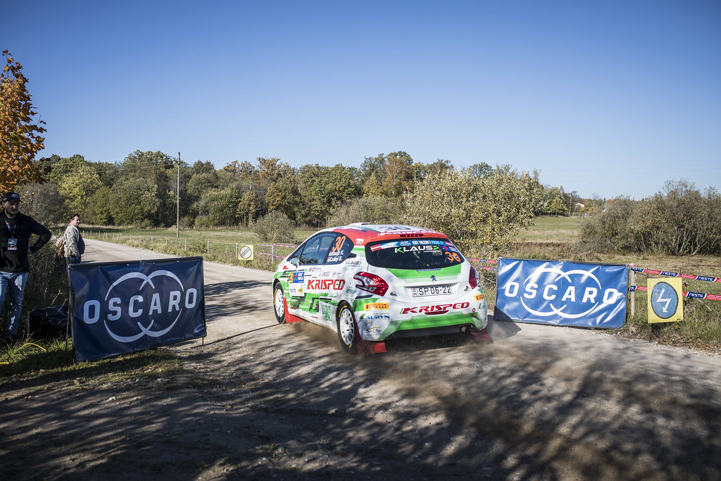 30 KLAUSZKristof, (HUN), Botond CSANYI, (HUN), KLAUS Motorsport, Peugeot 208 R2, Action during the 2018 European Rally Championship ERC Liepaja rally,  from october 12 to 14, at Liepaja, Lettonie - Photo Gregory Lenormand / DPPI