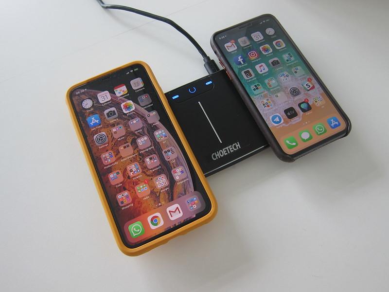 Choetech Dual Wireless Charging Pad - Charging