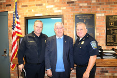 Rep. Storms with Windsor Locks Police Representatives