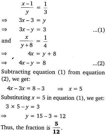 NCERT Solutions for Class 10 Maths Chapter 3 Pair of Linear Equations in Two Variables e5 4a