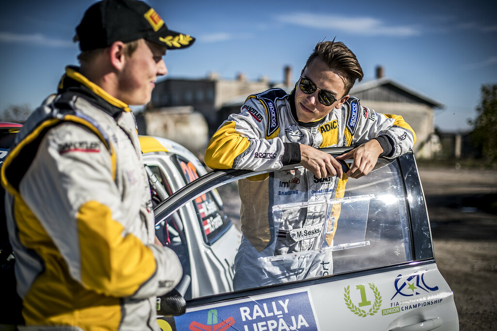 SESKS Martins, (LVA), ADAC Opel Rallye Junior Team, Opel Adam R2, Portrait during the 2018 European Rally Championship ERC Liepaja rally,  from october 12 to 14, at Liepaja, Lettonie - Photo Gregory Lenormand / DPPI