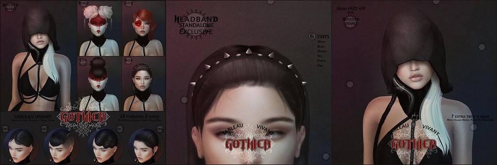 Tableau Vivant \ Gothica hair gacha - TeleportHub.com Live!