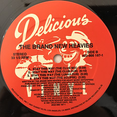 THE BRAND NEW HEAVIES:STAY THIS WAY(LABEL SIDE-B)