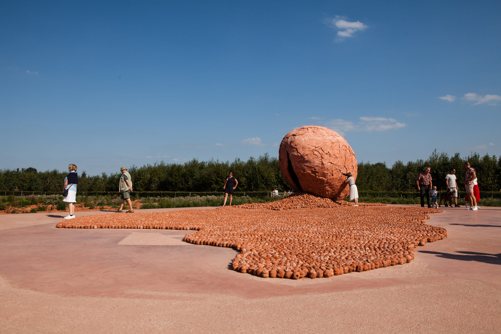 ComingWorldRememberMe land art installation | Palingbeek