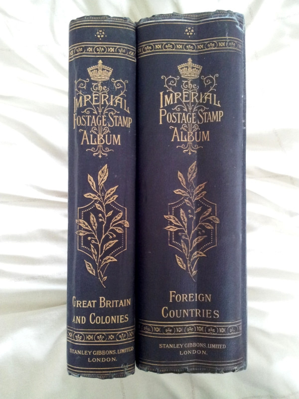 Two-volume Imperial Stamp Album, published by Stanley Gibbons