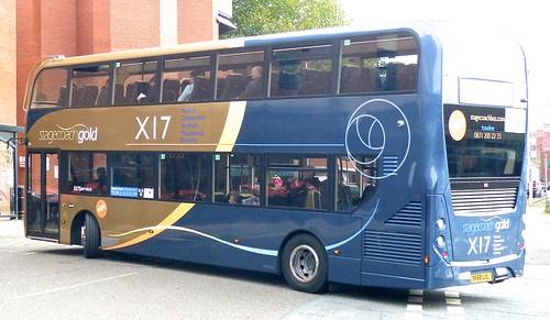 SK68 LUL 'Yorkshire Traction' No. 11121, 'stagecoachgold  X17'. Alexander Dennis Ltd. (ADL) E40D / 'ADL' Enviro 400MMC   on Dennis Basford's railsroadsrunways.blogspot.co.uk'
