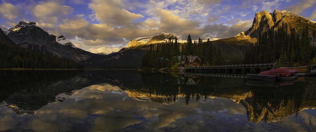 Emerald Lake Sunset Pano