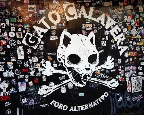 The Gato Calavera, the Cat Skull, an alternative party venue in Mexico City